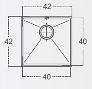 SinkAP UR0 1B 40 Steel b