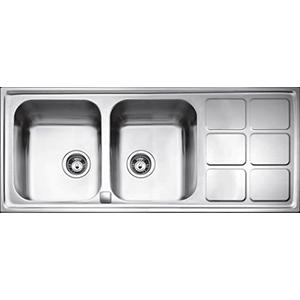 SinkT Cuadro Semiflo 2B1D 116.50 Steel