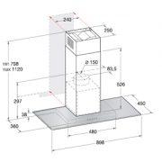 هود آشپزخانه آریستون مدل HDI 90 E b